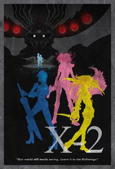 """Final Fantasy X-2 Vintage Poster. """"Our world still needs saving... Leave it to the Gullwings!"""""""