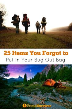 25 Items You Forgot to Put in Your Bug Out Bag. I'…