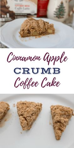 A delicious take on traditional coffee cake by adding cinnamon and apple to the deliciousness! This is easy to make and perfect for serving on holiday mornings with a cup of Starbucks coffee at home! #JoyCheerStarbucks #CoffeeAtHome #Ad
