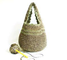 Crochet Handbag- Cute Crochet Bag- Crochet Pouch- Handmade bag- Unique Crochet Bag- Fashionable Handbag. $40.00, via Etsy.