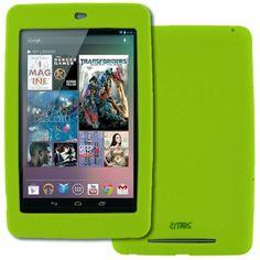 EMPIRE Google Nexus 7 Flexible Silicone Skin Case Cover, Neon Green