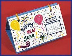 Highlights Kids | Index Card Calendar | http://www.highlightskids.com/crafts/new-years-calendar#