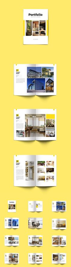 Minimal Interior & Architecture Portfolio Brochure Template InDesign INDD - 26 Pages