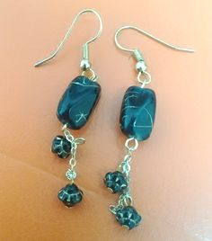 black beads earrings