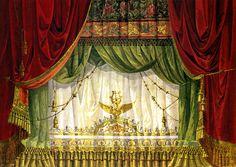 Atelier Julius Mühldorfer (operante 1890-1954), Bozzetto del sipario principale, Lubecca, Stadttheater (1904). Tempera su carta, 40 x 56,5 c...