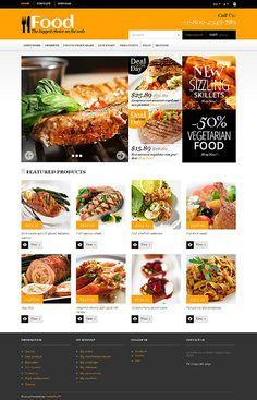 Template 47837 - Food Online  Responsive PrestaShop  Theme