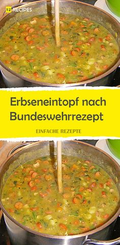 Erbseneintopf nach Bundeswehrrezept - Del My Site Life Shrimp Casserole, Casserole Dishes, Casserole Recipes, A Food, Food And Drink, Food Names, Cereal Recipes, Food Containers, Main Meals