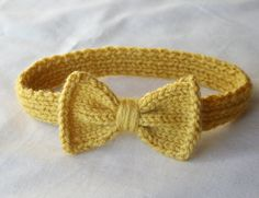 Knit Bow Headband for baby choose size & by BrightsideStudio