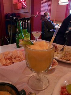 Mango margarita at Chuy's