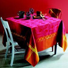 Garnier Thiebaut Cinetik Feu Table Linens | Gracious Style