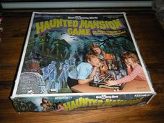 Haunted Mansion Walt Disney World Board Game Lakeside 1975 Cartoon Mickey Mouse (I used to have one with the monorail!!!)