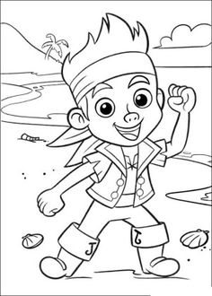 25 Best Jake and pirates coloring book images | Pirate ...