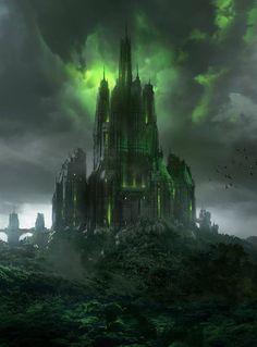 Fantasy Art Watch — The Corrupted Castle by Espen Olsen Saetervik