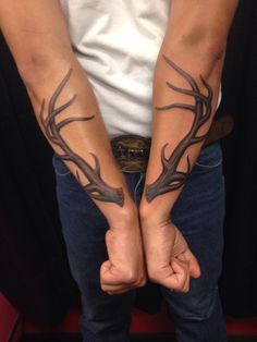 elk horn on forearm tattoo - Google Search