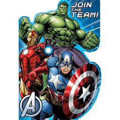 I found this great Birthday Party idea on BirthdayExpress.com. Avengers Assemble Postcard Invitations , Birthday Express helps create memories that last a lifetime - click here to start the fun!
