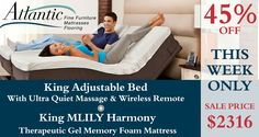 The most amazing therapeutic sleep experience you'll ever have. Fine Furniture, Living Room Furniture, Mattress On Floor, Melbourne Florida, Atlantic Furniture, Adjustable Beds, Coastal Living, Memory Foam, Toddler Bed