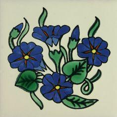 Especial Decorative Tile - Capuchina Azul – Mexican Tile Designs
