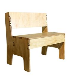 Wooden bench from Anatex. Would be great by the door for putting on & taking off shoes.