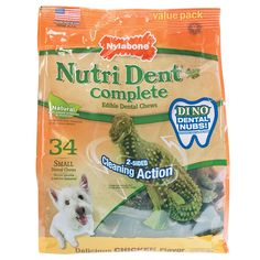 Nylabone Nutri Dent Complete Small Dental Dino Dog Treat Bones * Quickly view this special dog product, click the image : Dog treats