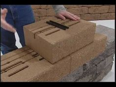 Part 1 - Retaining Wall Installation - Standard unit - YouTube  (multi-part how-to series -- very do-able)