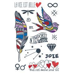 Poids plume, tatouages temporaires fait au Québec. http://lestatoues.com/collections/frontpage/products/poids-plume