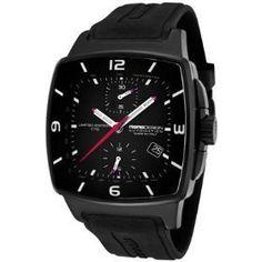 Most stylish pilot's watch - momo style titanium rubber finish high tech men's watch