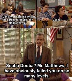Or maybe you could just never get enough of Mr. Feeny's remarkable shade.