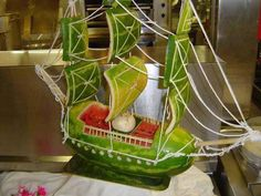 Watermelon boat - Nicely crafted watermelon ship