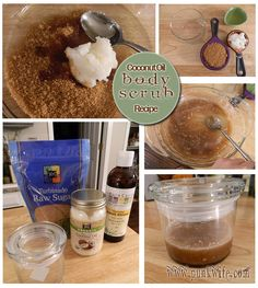 Natural and Simple Body Scrub With Coconut and Almond Oil