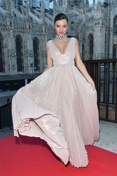 Milan Fashion Week: A model turnout at the amfAR gala and more highlights - HELLO! Miranda Kerr Style, Satin Cami Top, Gisele Bundchen, Celebs, Celebrities, Celebrity Dresses, Beautiful Gowns, Beautiful Ladies, Red Carpet Fashion