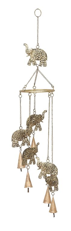 Woodland Imports Elephant Wind Chime & Reviews | Wayfair
