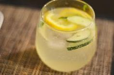 one shot infused cucumber vodka, 2 shots lemonade, and then top off with tonic...yum!