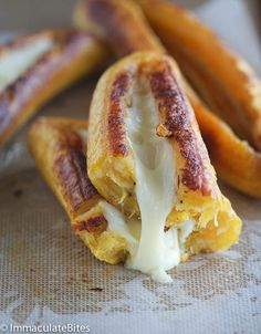 BAKED PLANTAINS WITH CHEESE