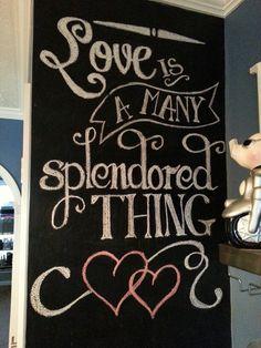 My Valentine's Day chalkboard!