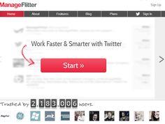 Twitter-työkalu: ManageFlitter