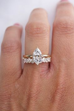 Diamond Bands, Diamond Wedding Bands, Wedding Rings, Marquise Ring, Solitaire Ring, Dream Engagement Rings, Wedding Engagement, Dream Wedding, Wedding Goals