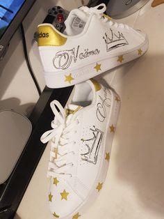 Custom Shoes, Front Row, Louis Vuitton, Adidas, Stars, Sneakers, Fashion, Tennis, Custom Tennis Shoes