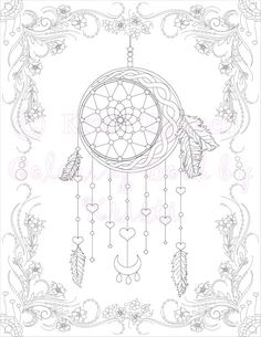 printable adult coloring pages dream catchers 7 Best Dream Catcher Coloring Pages images | Coloring pages  printable adult coloring pages dream catchers