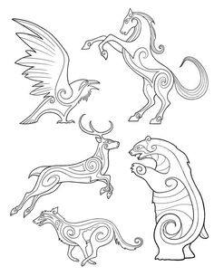 "bronze-wool: "" Brave, Celtic/Pictish Animal designs by Michel Gagne. "" bronze-wool: "" Brave, Celtic/Pictish Animal designs by Michel Gagne. Celtic Patterns, Celtic Designs, Vikings, Embroidery Patterns, Machine Embroidery, Easy Doodle Art, Motifs Animal, Viking Art, Viking Runes"
