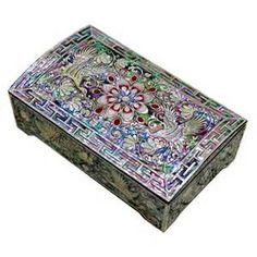 ... of pearl handcrafted jewelry case,jewel box trinket box Crane Design