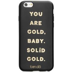 ban.do Solid Gold iPhone 6/6s Case ($20) ❤ liked on Polyvore featuring accessories, tech accessories, phone cases, phones, tech, cases, you are gold, gold iphone case, apple iphone case and iphone cover case