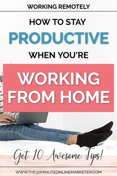 Want to learn more about how to stay productive when you're working from home? Check out this blog post for 10 tips that will help you stay sane and productive! #workingfromhome #homeoffice  #productivitytipsWant to learn more about how to stay productive when you're working from home? Check out this blog post for 10 tips that will help you stay sane and productive! #workingfromhome #homeoffice  #productivitytips