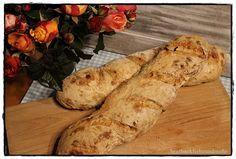 Baguette mit Röstzwiebeln brotbackliebeundmehr - Foodblog