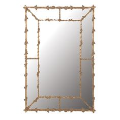 Large Oak Leaves Gilt Mirror