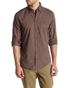 cc81e679374 Gant Rugger | Brown Dark Long Sleeve Indigo Blue Melange for Men | Lyst  Tupelo Honey