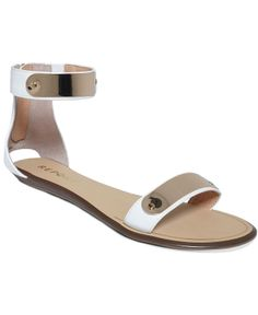 I like how minimal these are...but I wonder if they would be ok for walking ~ Report Lennonn Flat Sandals - Macy's