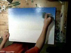▶ Art Lesson: How to paint a sky using acrylics. - YouTube