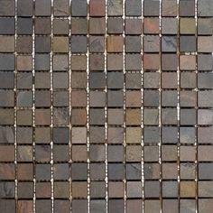 "Epoch 1"" x 1"" Slate Mosaic Tile in Indian Rain & Reviews | Wayfair"