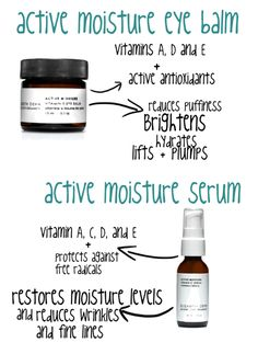 Powerful skincare: Vitamin E Eye Balm & Vitamin C Face Serum.