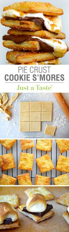 Pie Crust Cookie S'mores #recipe on justataste.com